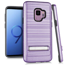 for Samsung Galaxy S9 G960 Brushed Metal Texture Impact Case Cover PryTool