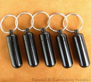 5x Black Bison Tube Geocache Containers