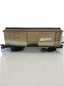 New Bright G Gauge Overland Western Railroad Boxcar Early American