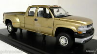 Anson 1/18 Scale 30394 Chevrolet Silverado 3500 gold metallic diecast model car