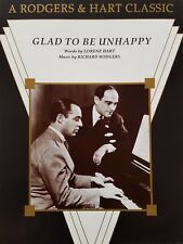 Rodgers & Hart: Glad To Be Unhappy (Piano/Vocal/Guitar Sheet Music) - MINT!