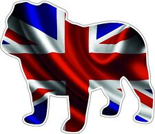 Mini Cooper SuperBike  Bulldog Union Jack Vinyl Decal Caravan Camper Race Car