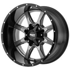 """4-Moto Metal MO970 22x10 6x135/6x5.5"""" -18mm Gunmetal/Black Wheels Rims 22"""" Inch"""