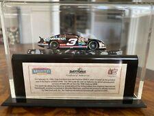 dale earnhardt model car Daytona 500 40th actual track mounted memories