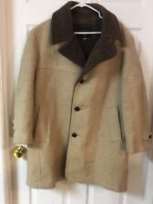 Vintage Lined CasualCraft of New York 75% Wool Heavy Coat 42 Regular Brown/Tan