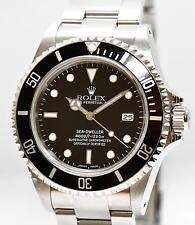 Rolex Sea Dweller Stahl Uhr 16600 von 1999 Papiere Kasten