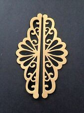 8 Lacy Fancy Scroll Die Cuts - Gold, Silver and Black