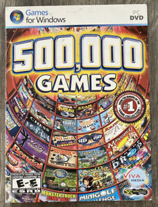 500,000 Games 3.0 for Windows PC DVD Games Largest Collection
