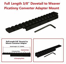3/8 Dovetail To Weaver Rail Adapter 11mm to 20mm Tactical Scope Mount 14 Slot