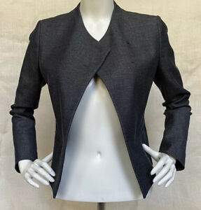 Ann Taylor Semi Military Asymmetric Closure Blazer Jacket XS NWT MSRP $139 Grey