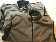 (2) Straight Down Men's Sleeveless gray and brown jacket Golf vest lot