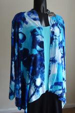 Women's open CARDIGAN draped front-XL-REG. $66 ESSENTIALS by MILANO