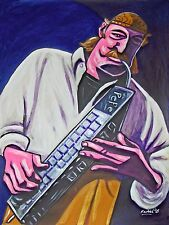 JOE ZAWINUL PRINT POSTER jazz weather report melodica keyboard brown street cd