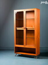 Vintage G Plan Mid Century Retro Teak Glass Display Drinks Cabinet Shelves