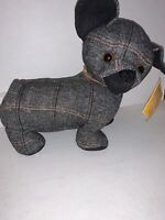 Elements Decorative Door Stopper Pug Dog with Heart Collar Charcoal Black Red