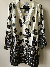 NWT stunning PAUL & JOE 100% Sik Animal Print Tunic blouse