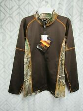 New Gamehide Camo Fleece Jacket Size S Mens Open Zipper Wick Audio Pockets Hunt