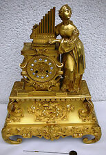Superb French Gilt Bronze Clock 1830 Holy Odile with organ Empire Pendule