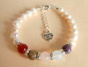 Gemstone Crystal Healing Miscarriage IVF Fertility Healthy Pregnancy Bracelet