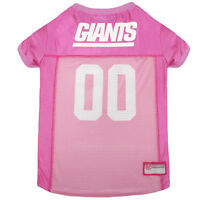 New York Giants Licensed NFL Pets First Dog Pet Mesh Pink Jersey Sizes XS-L