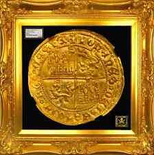 "SPAIN 1406 GOLD DOBLA NGC 61 ""CROSS of JERUSALEM"", SEVILLE MINT 510 YEARS AGO!"