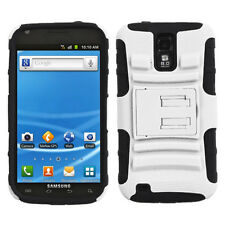 T-MOBILE SAMSUNG GALAXY S2 T989 DUAL LAYER HYBRID ARMOR W/KICKSTAND WHITE
