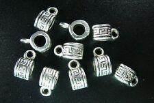 100 pcs Tibetan Silver Cylinder decorative bail FC182