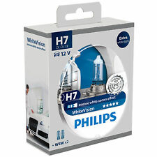 Philips Whitevision White Vision H7 Car Bulbs (Twin Pack) 12972WHVSM