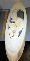 Alaska Tribal Raven Dancer Wood Wall Plaque 22 x 7 inches  hand carved in Alaska