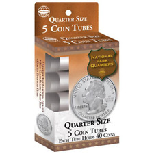 New QUARTER Size Coin Tubes From Whitman - 2 Packs Of 5 Each. Tube Hold 40 Coins