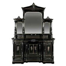 American Aesthetic Ebonized Parlor Cabinetry by Pottier & Stymus #7304