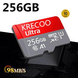 256GB 128GB 64GB Speicherkarte Class10 98MB/s 4K für Telefonkamera mit Adapter