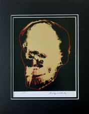ANDY WARHOL 1985 SKULL SIGNED AND NUMBERD MATTED PRINT 11X14