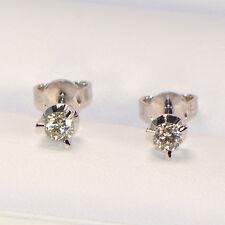 Diamant Ohrstecker 750er Weissgold 0,38 ct 3er Krappenfassung Brillant 3 Krappen