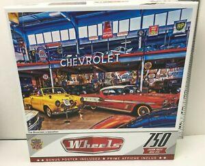 "Wheels The Showcase 750 Piece Puzzle 18"" x 24"" 32070 New Sealed Bonus Poster"