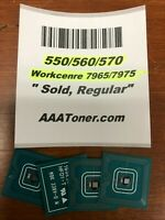 4 x Toner Chip (1525 - SOLD) for Xerox 550, 560, 570 WC 7965, 7975 Refill
