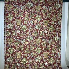 Retired Laura Ashley Brittany Shower Curtain Multi Color Flowers Red Gold