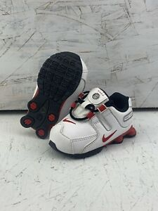 Nike Shox NZ SMS RARE! White/red Toddler Size 4c 488308-110 2013