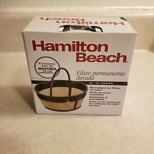 Hamilton Beach Permanent Gold Tone Filter Fits Most 8 to 12-Cup Coffee Makers