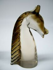 vintage Murano art glass horse head paperweight sculpture bust V. NASON