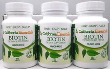 10,000mcg and CALCIUM MAX STRENGTH BIOTIN- HAIR,SKIN,NAIL HEALTH -FREE SHIP