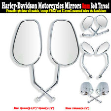 Rear View Rearview Mirror Mirrors For Harley Sportster Softail Road King Glide