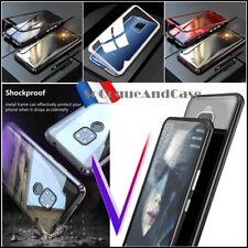 Etui coque Bumper Magnétique Dos Verre Trempé Glass Case Huawei Mate 20 Pro