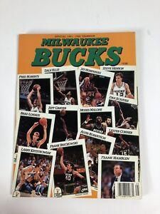 1991-92 Milwaukee Bucks Yearbook Malone Brickowski Krystkowiak Robertson