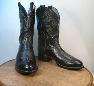 TONY LAMA style 2205 Black Bullhide Cowboy Western Boots Men's size 6.5 D