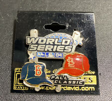 2004 World Series Dueling Caps Pin Boston Red Sox St. Louis Cardinals Licensed