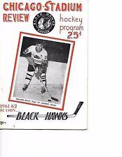 1961-62 Chicago Black Hawks-Bruins Program Hawks Bomb B's BEAUTY!!