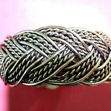 Design Silver Tone & Light Weight Thai Hand Braided Bangle Adjustable Special