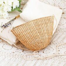 Women Small Straw Woven Bags Beach Vintage Handmade Rattan Natural Shoulder Bag