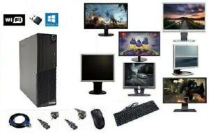 ORDINATEUR PC FIXE COMPLET LENOVO M71E i5 WIFI HDD SSD WINDOWS 10 4GO/8GO/16GO